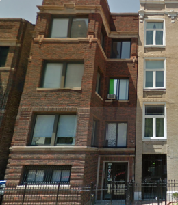My second Chicago apartment - when I moved in with my old college roommate Kerrie and her two cats. And when I discovered I was allergic to cats.